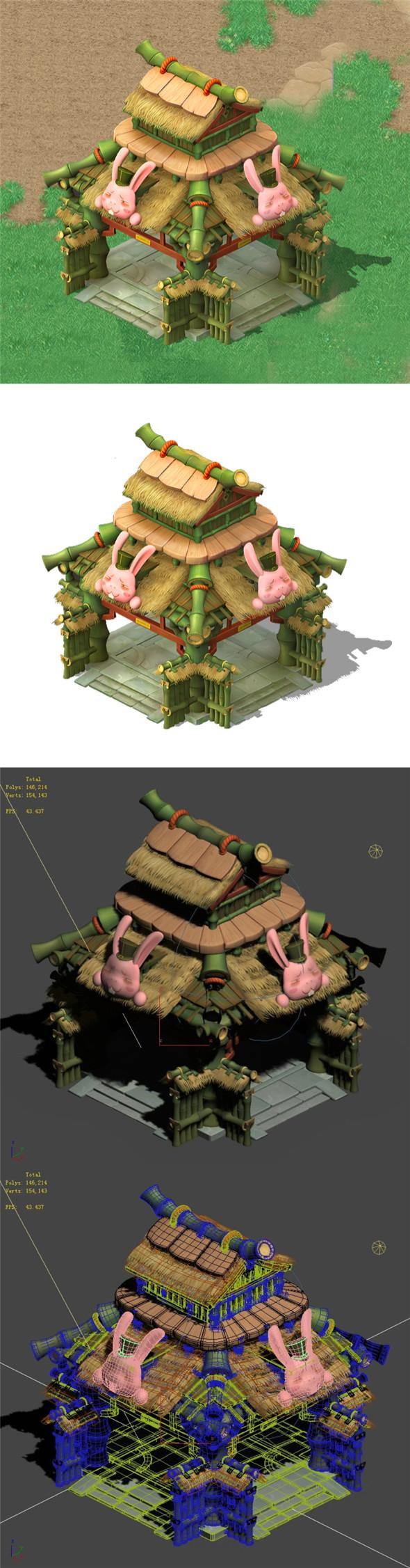 Cartoon World - Little Pavilion - 3DOcean Item for Sale