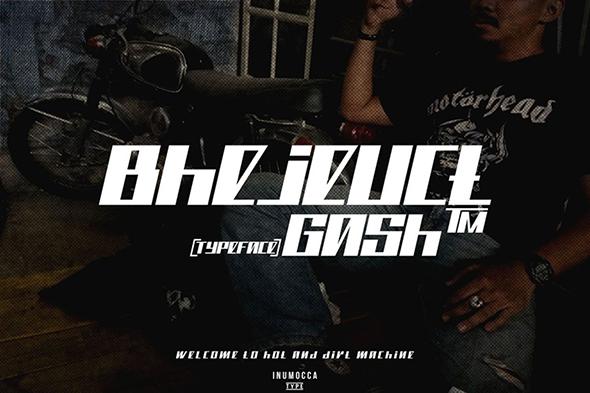 Bhejeuct Gash Typeface - Futuristic Decorative