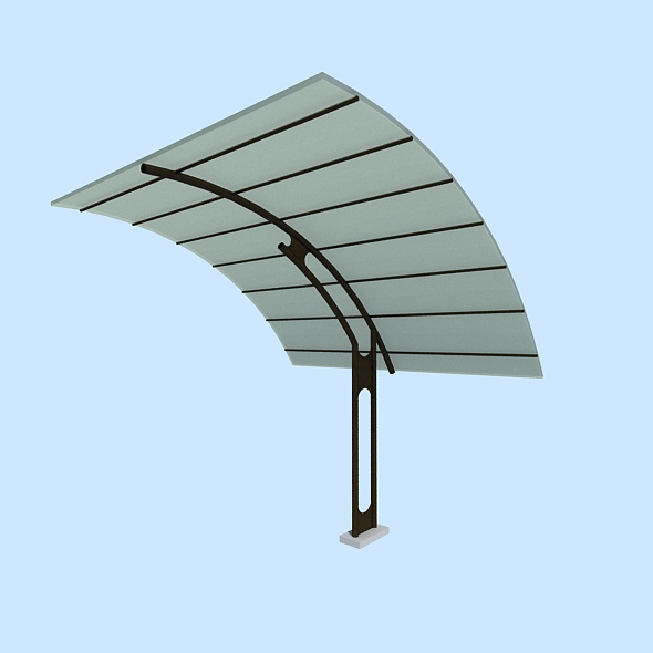 Canopy / Transit shelter / Bus stop / Cubierta - 3DOcean Item for Sale