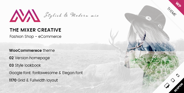 ARW Mixer - Creative Shop WordPress Theme