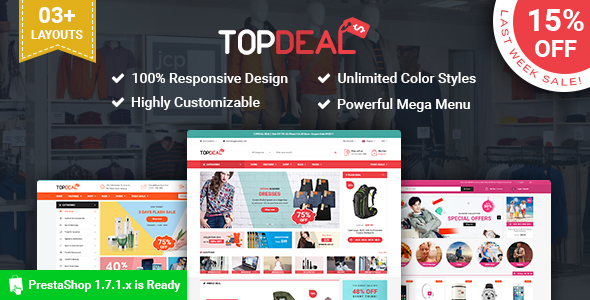 SP TopDeal – Multipurpose Responsive PrestaShop1.7 Theme