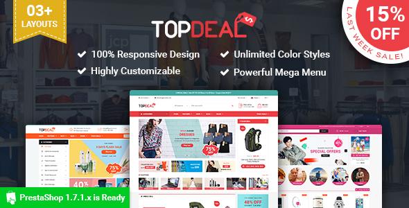 SP TopDeal – Multipurpose Responsive PrestaShop1.7 Theme