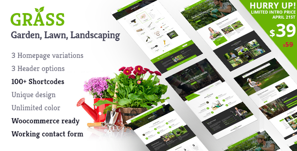 Garden WordPress Theme | Grass Garden