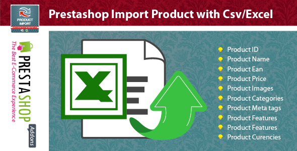Prestashop Import Product with Csv/Excel Module - CodeCanyon Item for Sale