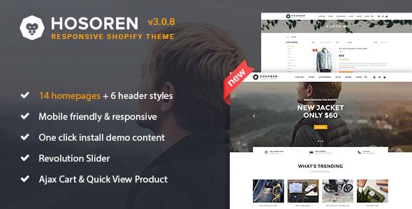 Hosoren - Responsive Shopify Theme - Shopify eCommerce