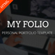 My Folio - Personal Portfolio HTML5 Template - ThemeForest Item for Sale