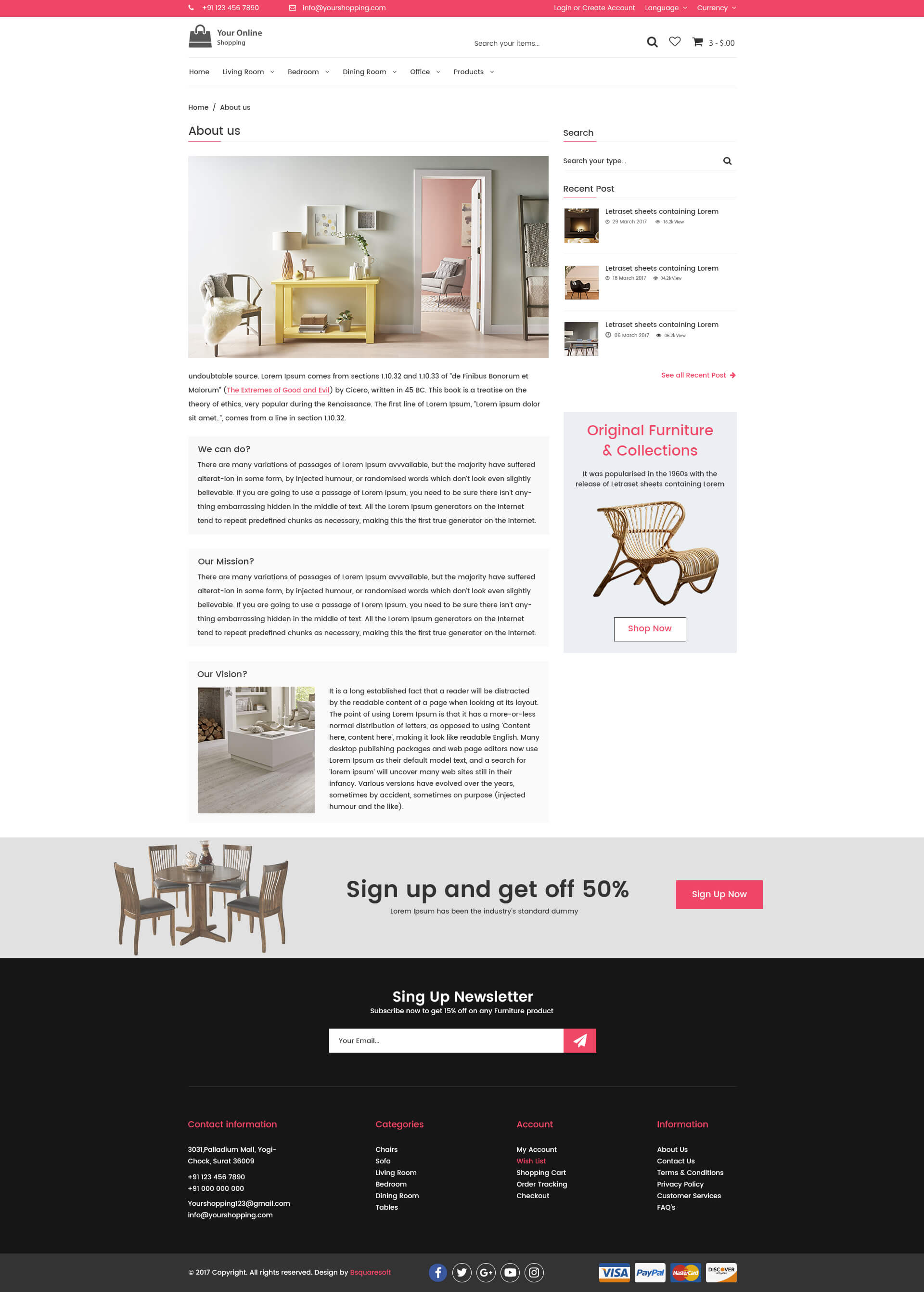 Online Shopping Ecommerce Psd Template By Bsquaresoft Themeforest
