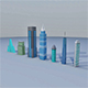7 Low Poly Building - 3DOcean Item for Sale