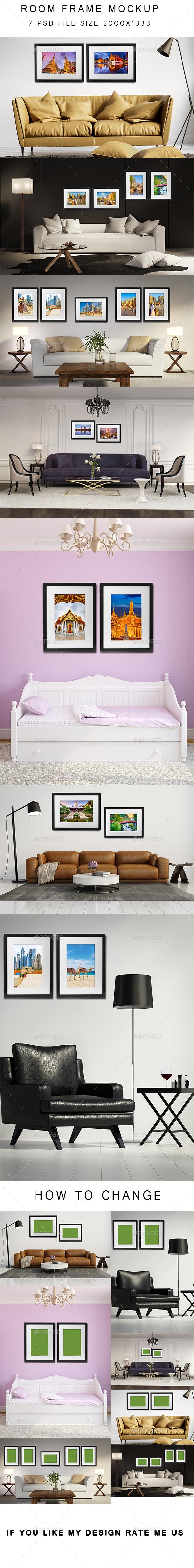 Room Frame Mockup - Posters Print
