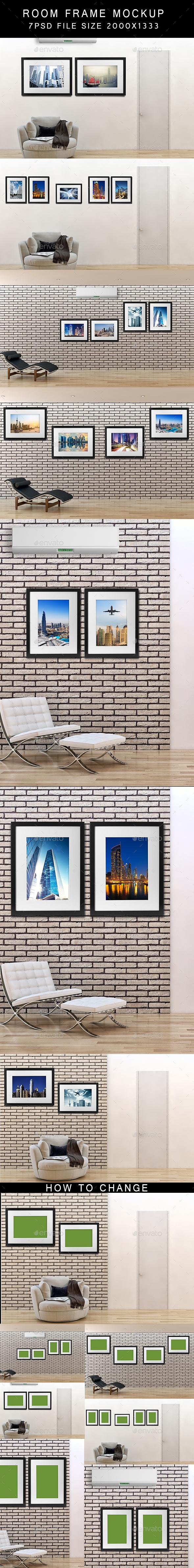 Room Frame Mockups - Posters Print