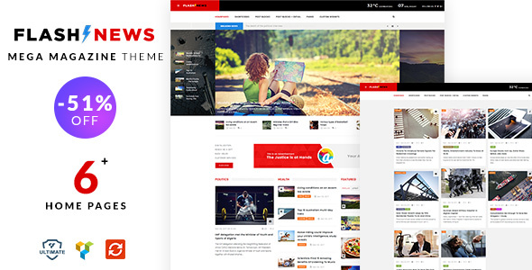 Flash News – Magazine, Blog, News Theme