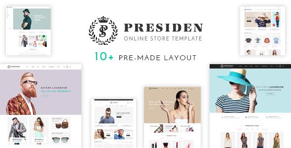Presiden - Multistore Responsive Magento Theme - Fashion Magento