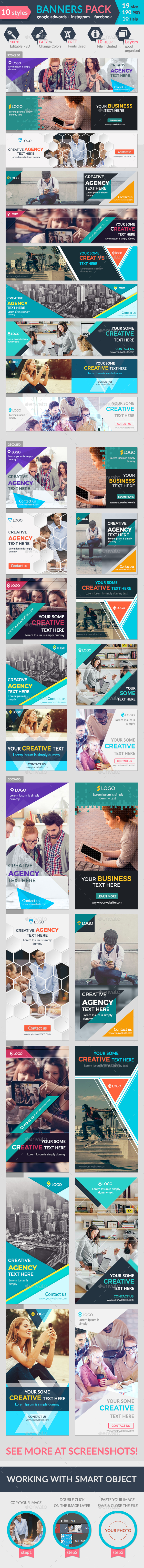 Banners Pack-2 - Banners & Ads Web Elements