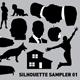 Silhouette sampler 01 - GraphicRiver Item for Sale