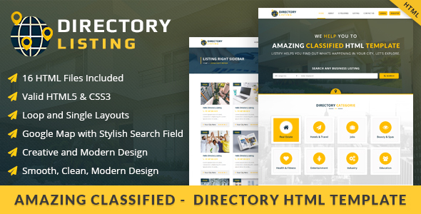 Viavi Directory Listing HTML  Template - Miscellaneous Site Templates