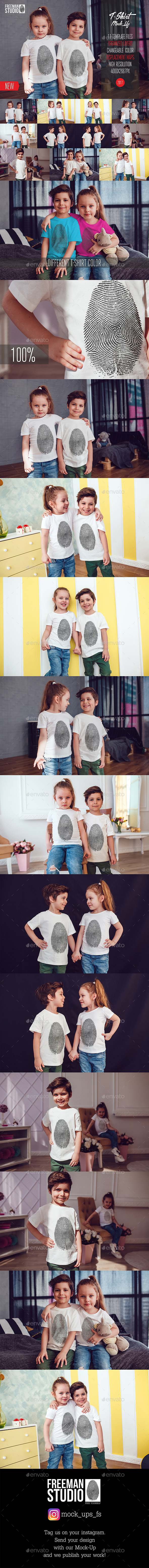 Kids T-Shirt Mock-Up Vol.3 2017 - T-shirts Apparel