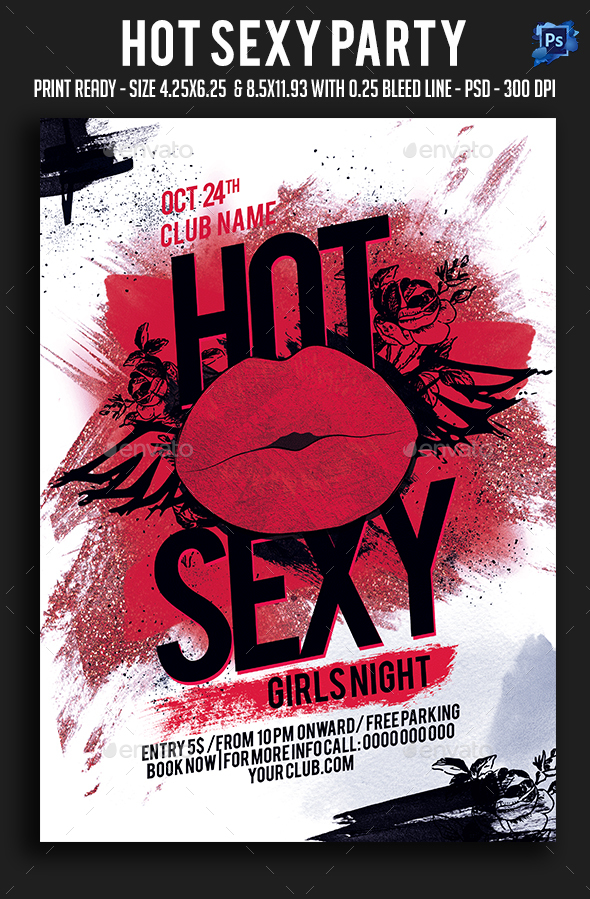 Hot Sexy Party Flyer - Clubs & Parties Events