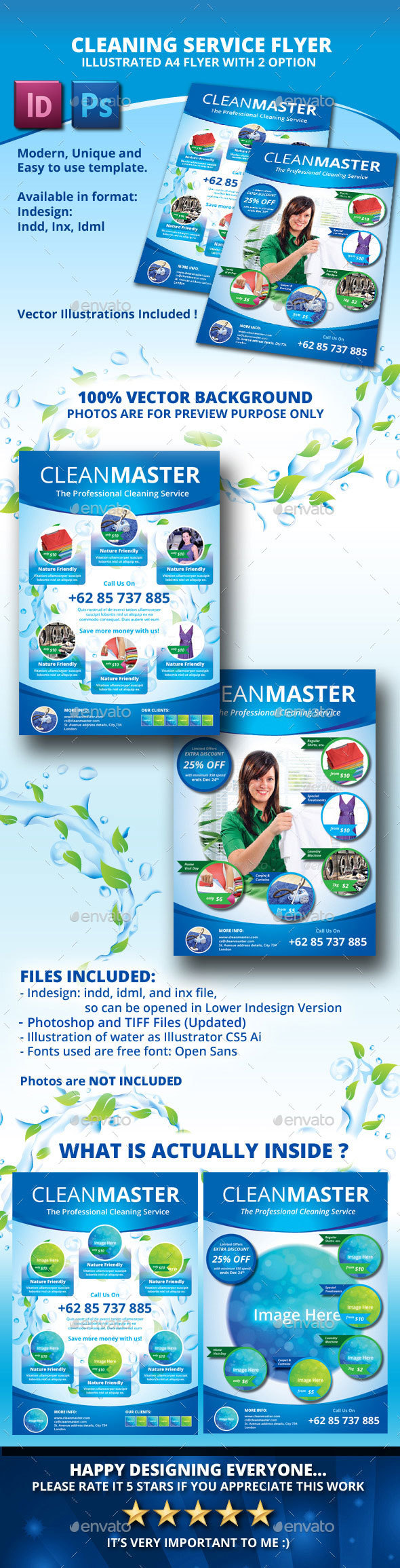 Eco - Cleaning Service A4 Flyer with 2 Layout - Corporate Flyers