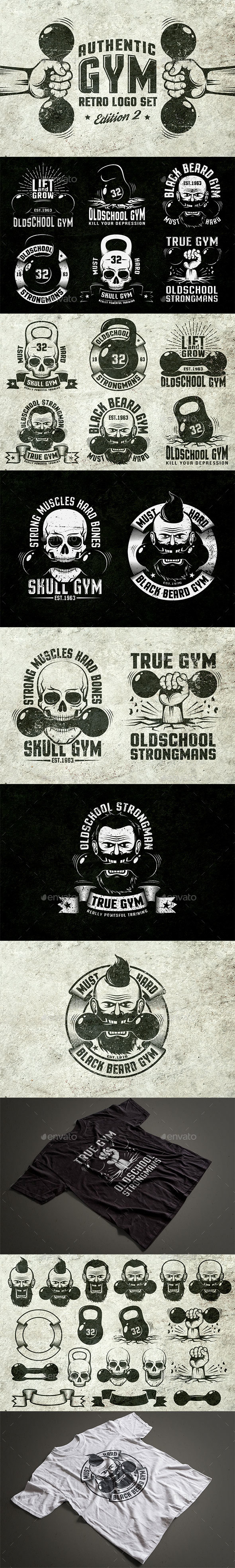 Gym Retro Logo 2 - Sports/Activity Conceptual