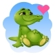 Green Crocodile - GraphicRiver Item for Sale