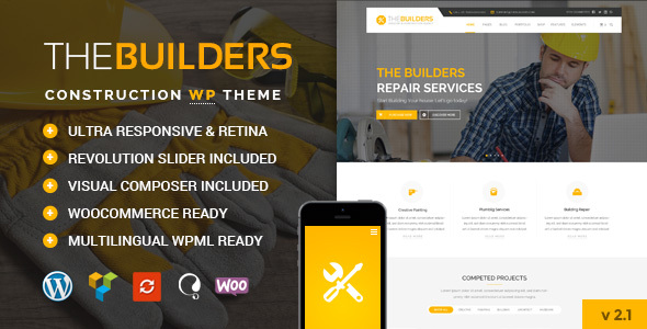 The Builders - Construction WordPress Theme - Business Corporate