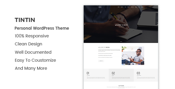Image of Tintin - Personal Portfolio WordPress Theme