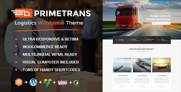 PrimeTrans | Logistics HTML Template
