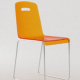 Modern Orange Plastic Transparent Chair with Chrome Support - 3DOcean Item for Sale