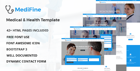 MediFine – Health and Medical HTML Template