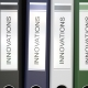 Multiple Office Folders with Innovations Text Labels - VideoHive Item for Sale