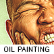 Professional Oil Painting Action