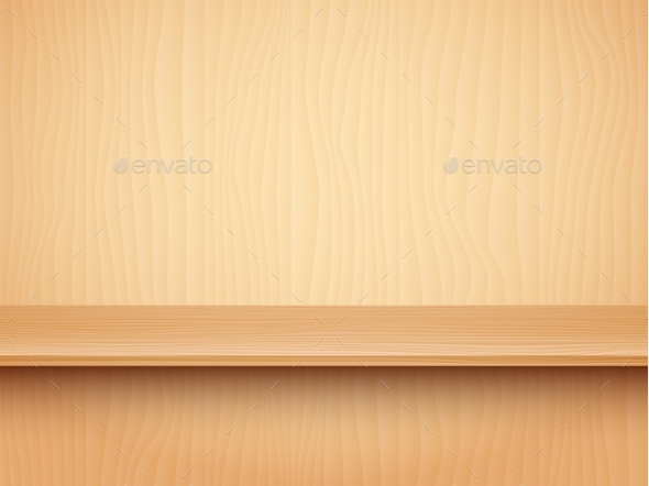Empty Wooden Shelf - Backgrounds Decorative