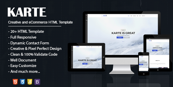 Karte – Creative and eCommerce HTML5 Template