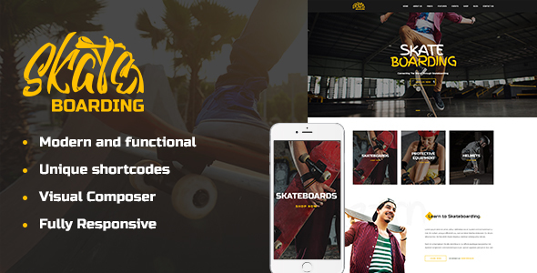 Skateboarding Community & Store - Retail WordPress