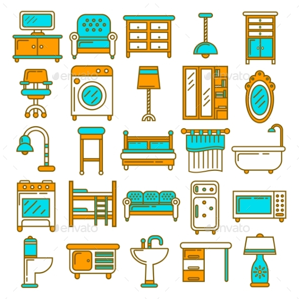 Home Furniture Appliances and Room Interior - Man-made Objects Objects
