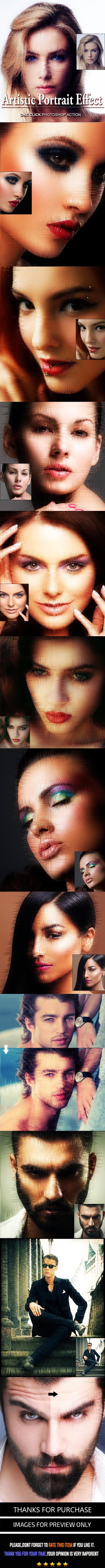 Artistic Portrait Effect - Photo Effects Actions