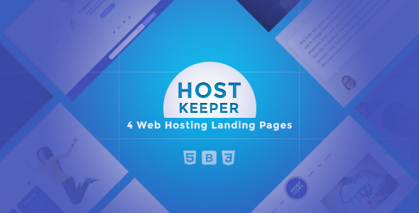 Host Keeper-Responsive Landing Page