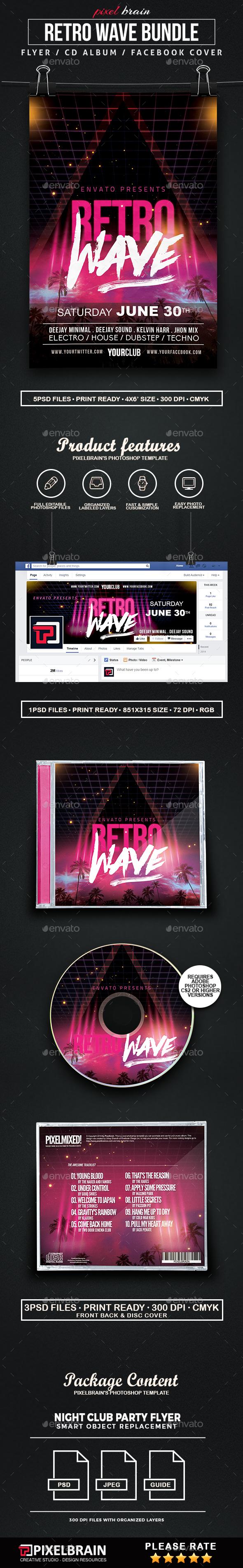 Retro Wave Bundle - Print Templates