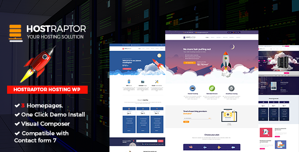 Hostraptor – Hosting Responsive Website Theme