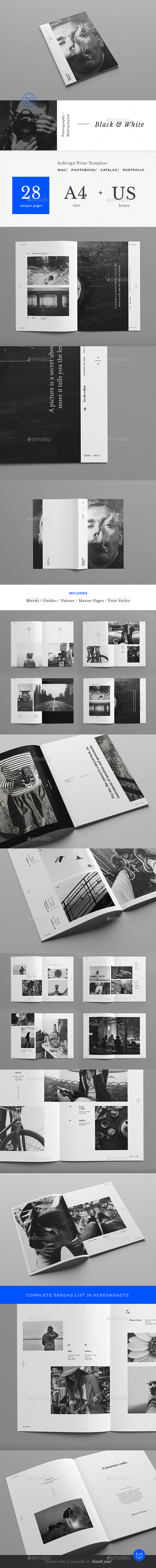 Clean Photography / Art Portfolio - Portfolio Brochures