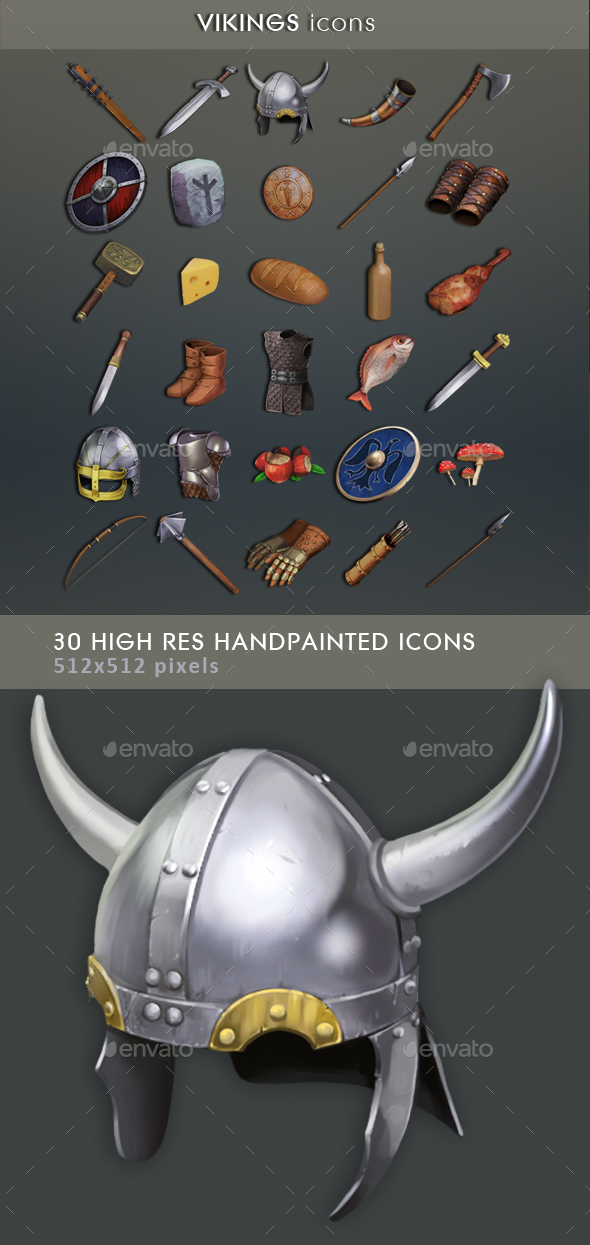 Vikings Icons - Miscellaneous Game Assets