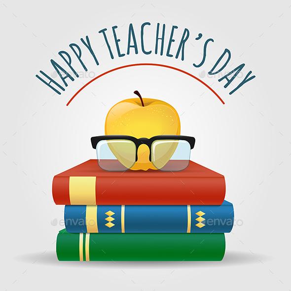 Happy Teachers Day Illustration - Miscellaneous Vectors