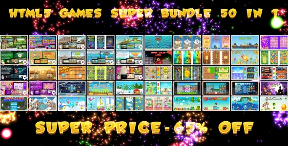 50 HTML5 GAMES!!! SUPER BUNDLE №1 (CAPX) - CodeCanyon Item for Sale