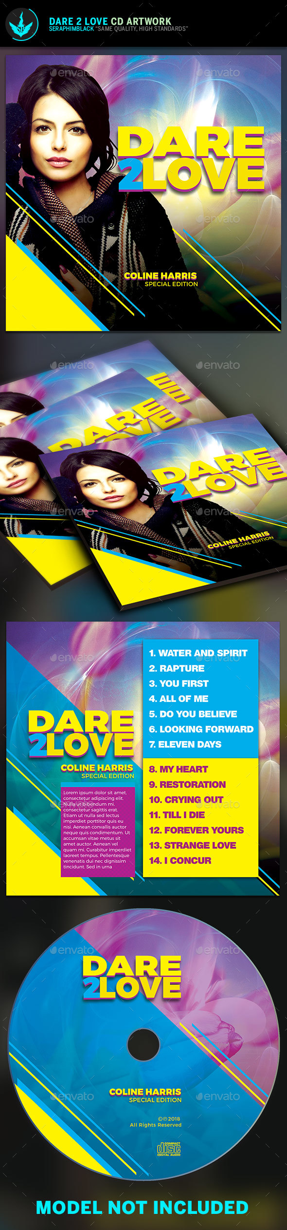 Dare 2 Love CD Artwork Template - CD & DVD Artwork Print Templates
