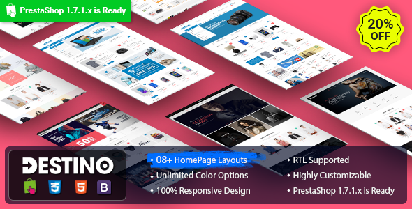 Destino – Digital/Fashion Store PrestaShop 1.7.x Theme