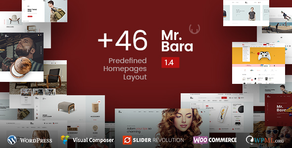 Mr.Bara - Responsive Multi-Purpose eCommerce WordPress Theme - WooCommerce eCommerce