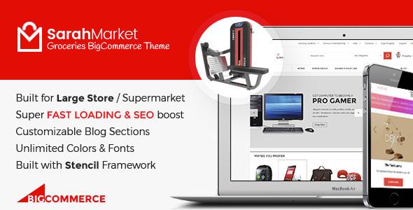 SarahMarket - Large Store Grocery Responsive BigCommerce Theme