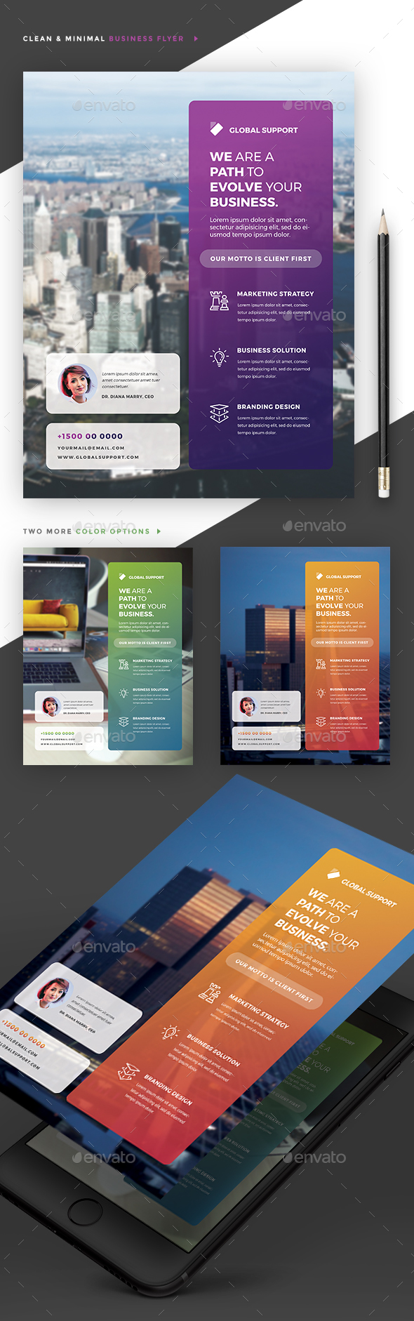 Minimal Corporate Flyer - Corporate Flyers
