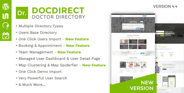 Directory DocDirect – Responsive WordPress Theme for Doctors and Healthcare Directory