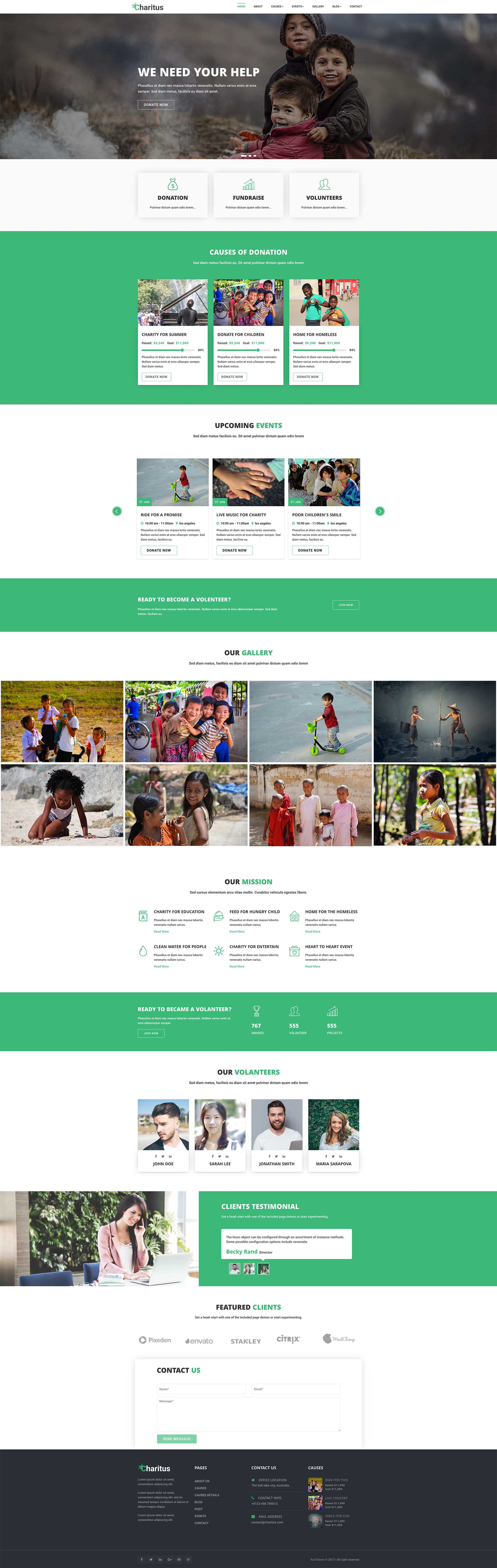 Charitus - Donation Non Profit Charity Website Bootstrap Template by ...